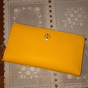 Tory Burch yellow wallet